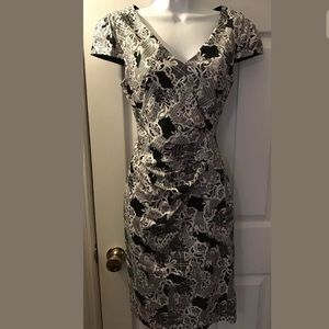 ModCloth Black & White Shift Sheath Dress Career